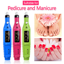 1set Power Professional Electric Manicure Machine Pen Pedicure Nail File Nail Tools 6 bits Drill Nail Drill Machine professional 1set dc powered electric screwdriver 800 small power supply 10 bits hand tools