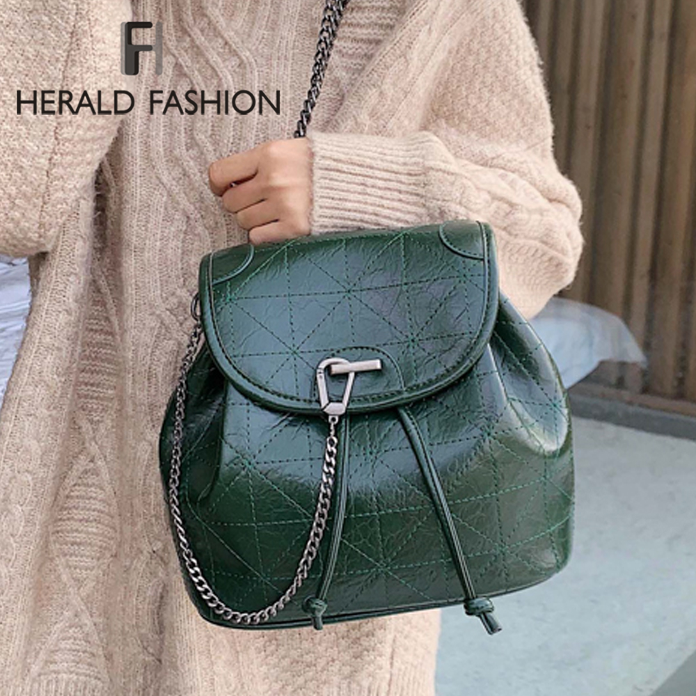 Women Backpack Female Shoulder Bag Multi-purpose Casual Fashion Ladies Small Chain Backpack Travel Bag For Girls Backpack