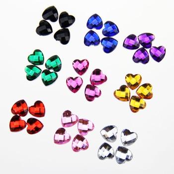 1cm diameter acrylic nonporous flat bottom peach diamond clothes hat accessories DIY handmade materials