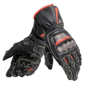 Image 4 - New 4 Colors 100% Genuine Leather Dain Full Metal 6 Motorcycle Gloves Racing Long Gloves Driving Motorbike Cowhide Gloves