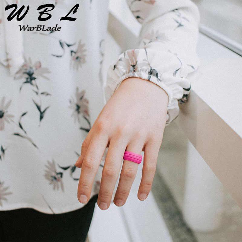 WarBLade 100% anillo de silicona Natural hipoalergénico Crossfit Flexible goma dedo anillos 8MM para Mujeres Hombres fiesta anillos de boda