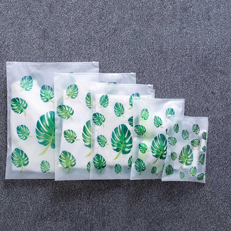 Leaf พิมพ์เก็บกระเป๋า Organizer สำหรับเสื้อผ้ารองเท้าชุดชั้นในตู้เสื้อผ้า Closet Organizer กระเป๋าสำหรับเสื้อผ้ารองเท้า