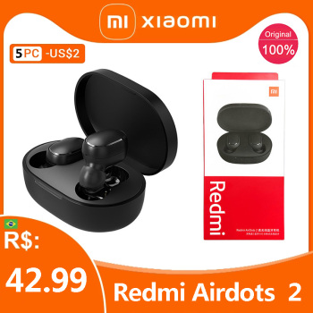 Original Xiaomi Redmi Airdots 2 Cost-effective Earbuds Tws Wireless Earphone Bluetooth Stereo Headset With Mic For Dropshipping
