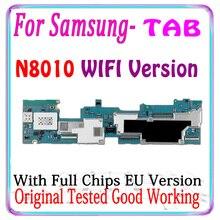 Spedizione gratuita originale per Samsung Galaxy Note 10.1 N8010 scheda madre per Samsung Galaxy Note 10.1 scheda logica versione ue MB