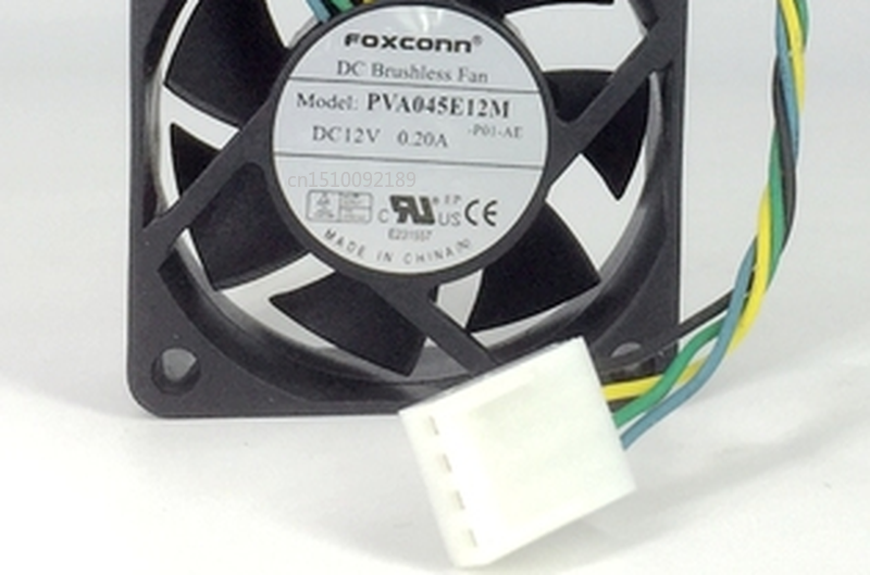 Free Shipping For FOXCONN PVA045E12M -P01-AE DC 12V 0.20A 45x45x15mm Server Cooler Fan
