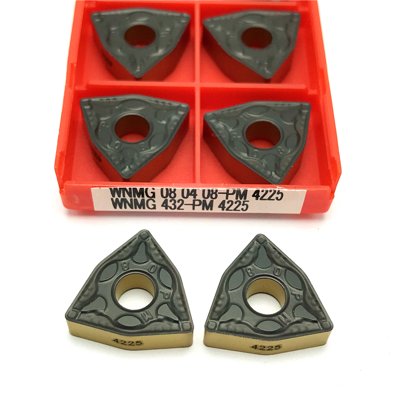 Indexable Carbide Turning Insert WNMG 430.5 Lathe Tool Insert WNMG080402 Ha Suitable for Processing Aluminum Alloy and Brass Sharp and Durable. High Finish