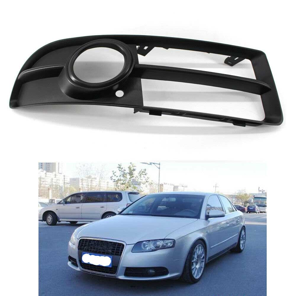 Car Lower Side Bumper Fog Light Grille <font><b>Grill</b></font> Right for <font><b>Audi</b></font> <font><b>A4</b></font> <font><b>B7</b></font> S-line S4 2005-08 8E0807682F Not for <font><b>Audi</b></font> <font><b>A4</b></font> Base Sedan 4 Door image