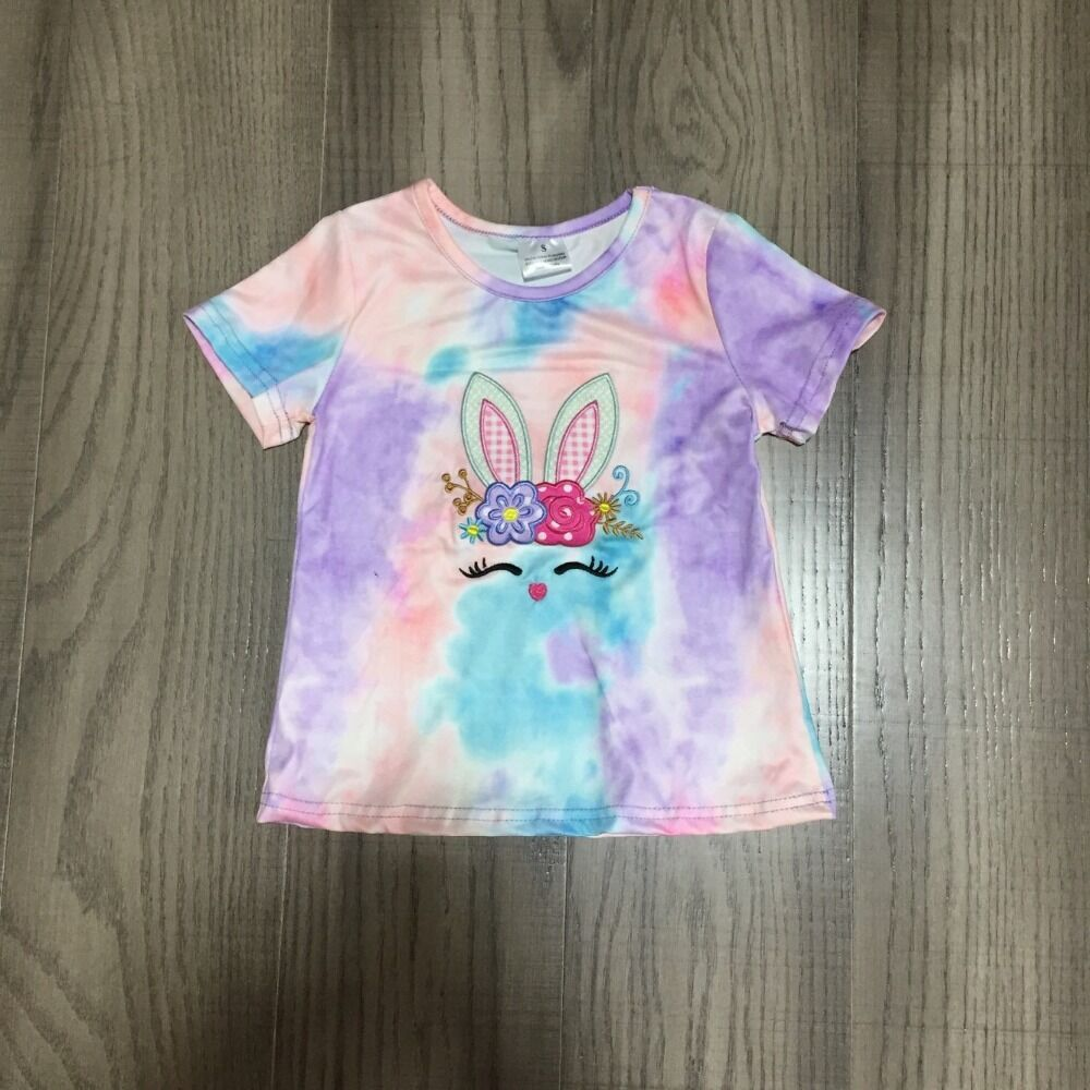 Baby Girl Clothes Girls Spring Shirt Girls Easter Raglans Colorful Bunny Shirt