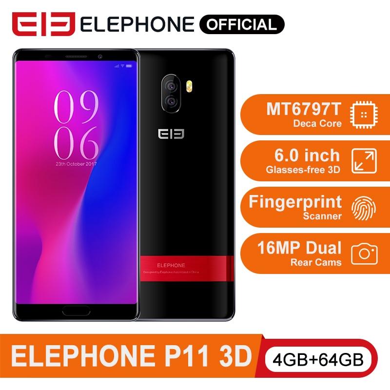 ELEPHONE P11 3D 4GB 64GB Smartphone MTK MT6797T Deca Core 6.0