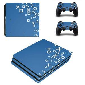 Image 4 - Pure White PS4 Pro naklejki Play station 4 skórka naklejka naklejka na konsolę PlayStation 4 PS4 Pro i skórka na kontroler winylu