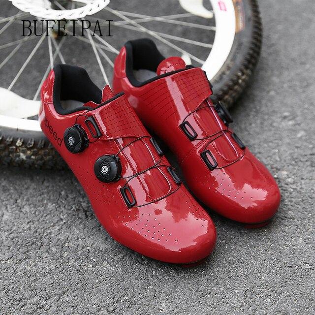 2020 ciclismo de estrada sapatos de ciclismo de bicicleta homem não-bloqueio de corrida respirável ultraleve profissional tênis de bicicleta mulher 4