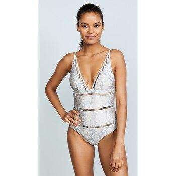 Sexy Sommer Frauen Badeanzug Spitze Momokini Push-Up V-ausschnitt Badeanzüge  1