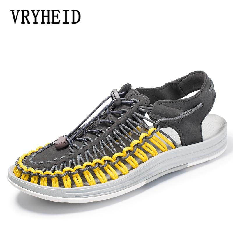 VRYHEID Brand Men And Women 35-48 New Summer Sandals Men Shoes Quality Comfortable Men Sandals Fashion Design Casual Men Sandals