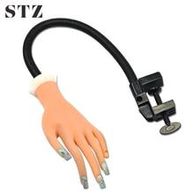 STZ Professional Nail Art Training Fake Hand Display False Tips UV Gel Polish Painting Tools Manicure Nail Practice Model ND275