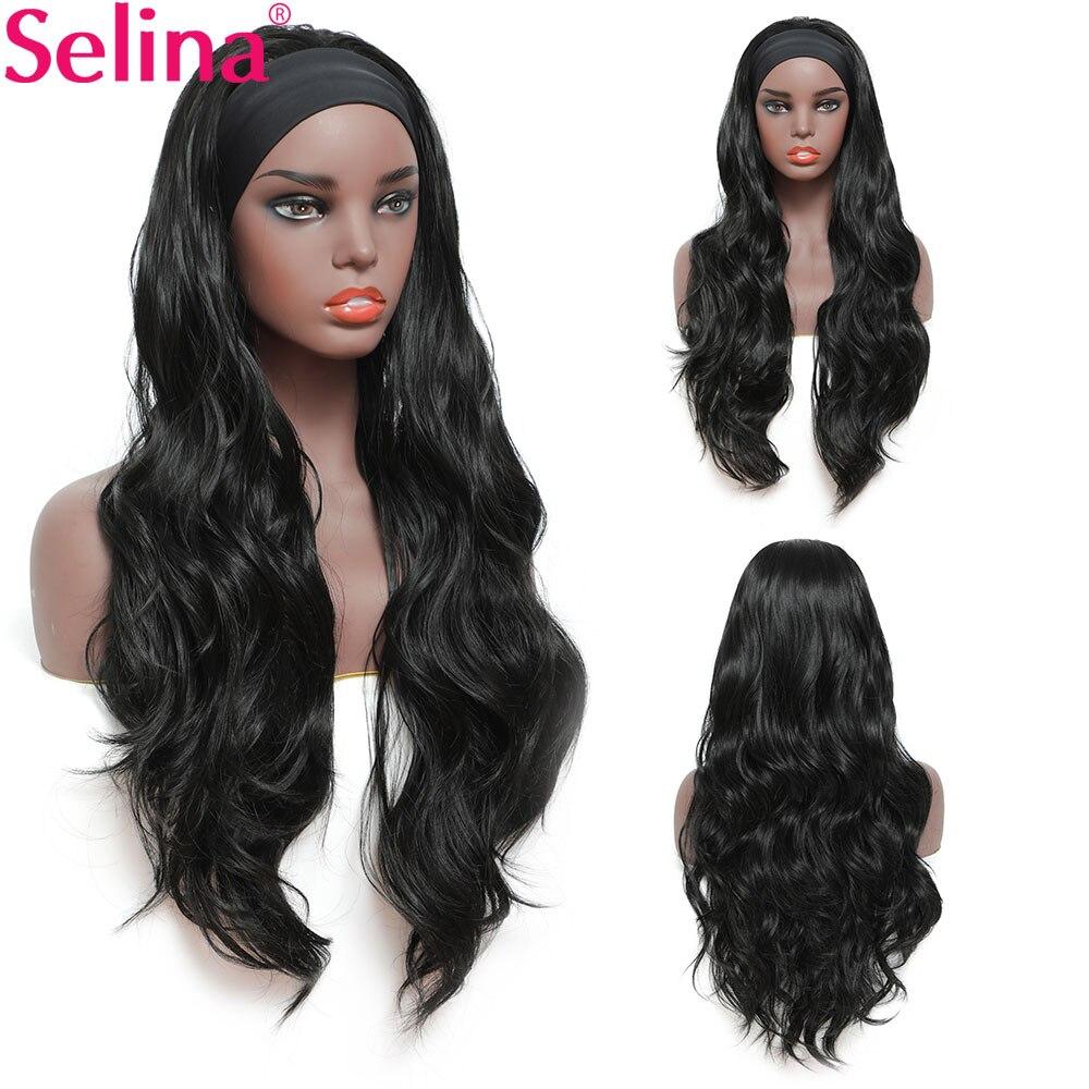 Body Wave Headband Wig Synthetic Wig for Women Glueless Wig with Headband Heat Resistant Fiber Cosplay