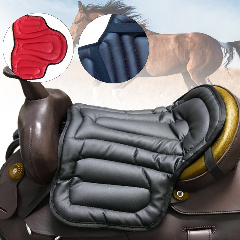 Horse Riding Saddle Pad Soft Equestrian Seat Pad Horse Riding Equipment Comprehensive PU Saddle Pad Western Saddle Pad Painless