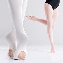 Collants de Ballet pour femmes et filles, 3 paires, collants de Transition souples, sans couture, pour le Ballet, avec trou, 60D