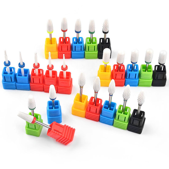 22 Style Different Shapes Ceramic Nail Drill Bits High Quality Manicure Milling Cutters ,Electric Nail Sander Tip