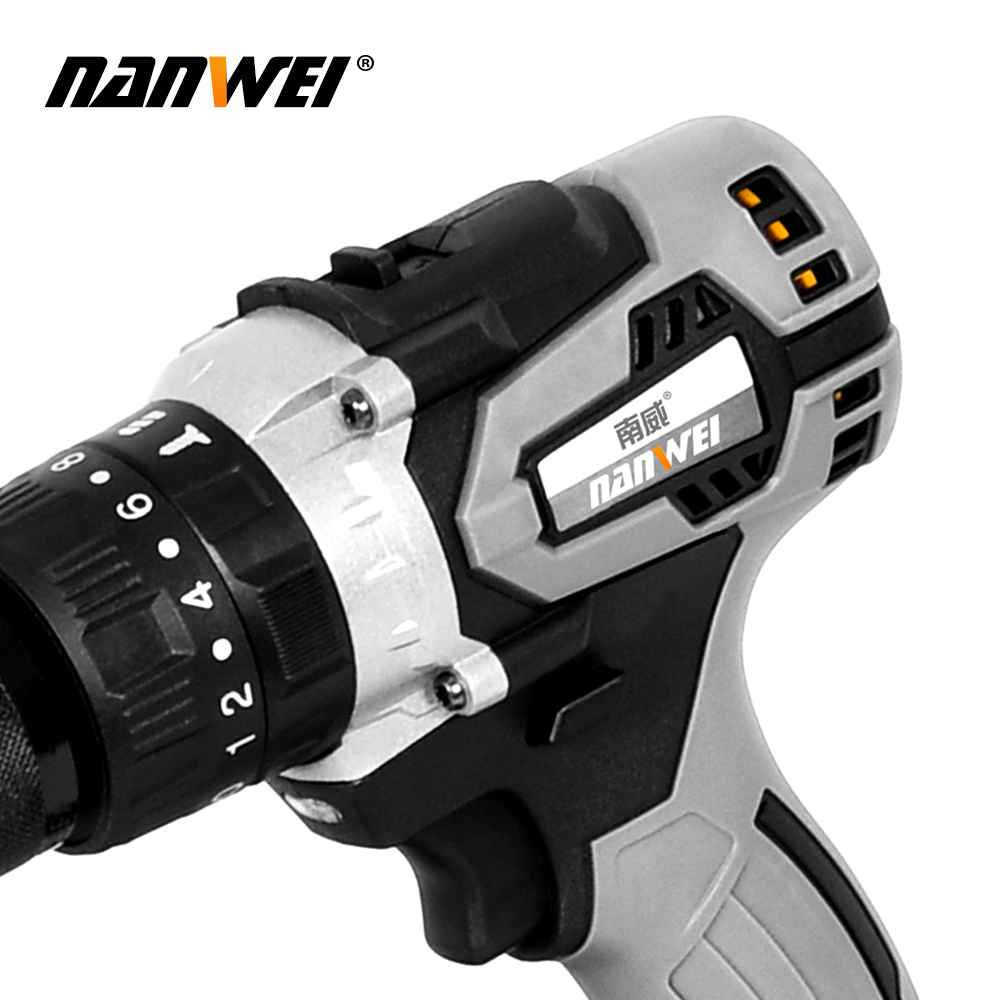 Tools : Electric Cordless Screwdriver Impact Drill 3 8inch Driver Li-Ion Batteries Rechargeable DIY Hand Power Tools