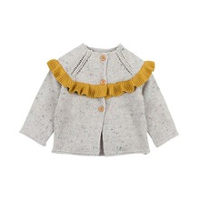 Baby Girl Sweater Knit Cardigan Jacket Toddler Sweater Infant Coat Kids Coat Ruffles Casual Jacket Winter Baby Girl clothes цены онлайн