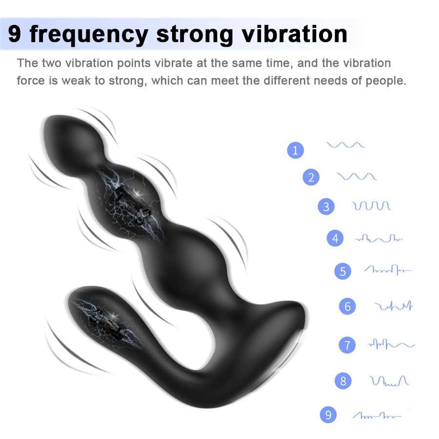 ทางทวารหนัก Beads Sex ของเล่นสำหรับชายนวดต่อมลูกหมาก Vibrator Anal Plug เพศตุ๊กตา Masturbator ซิลิโคนเกย์ของเล่น SM ผลิตภัณฑ์