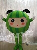 Food Mascot Fruit Watermelon Mascot Costume Fancy Dress Mascots Custome for Halloween Birthday Performance Adult Costume