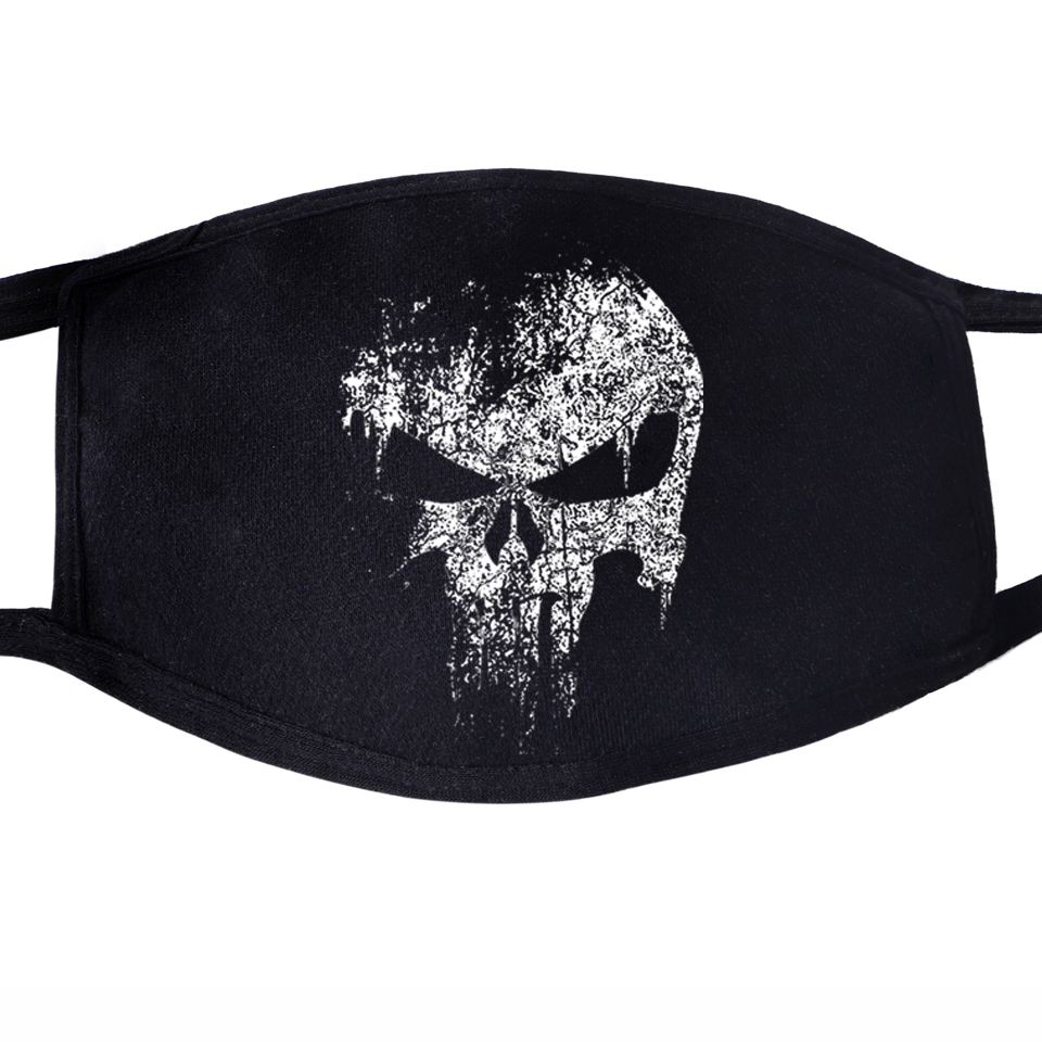Skull Hip Hop Swag Mask Face Mouth Anti Dust Unisex Black Muffle Dustproof Facial Protective Cover Quarantine Punk Cool Masks