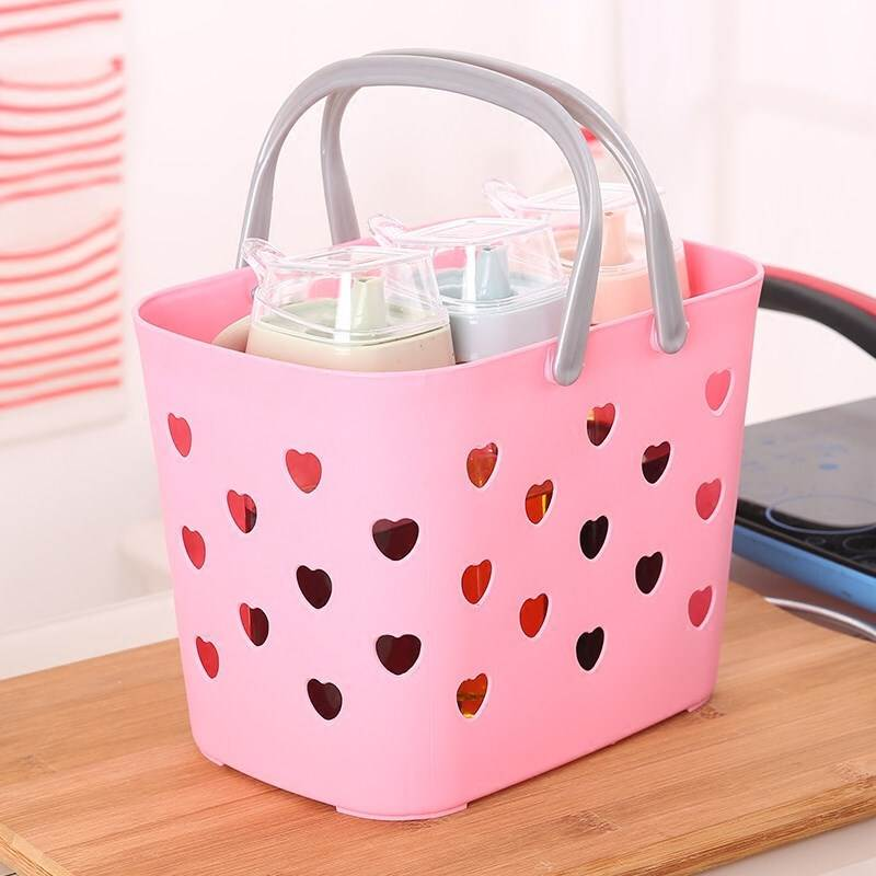 Waterproof Beach Bags Weekend Tote Bag Washable Bogg Bag Cosmetic Bag Portable Storage Bathroom Kitchen Hollow Plastic Basket