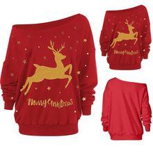 Новинка 2020 женский свитер с рождественским принтом Женский