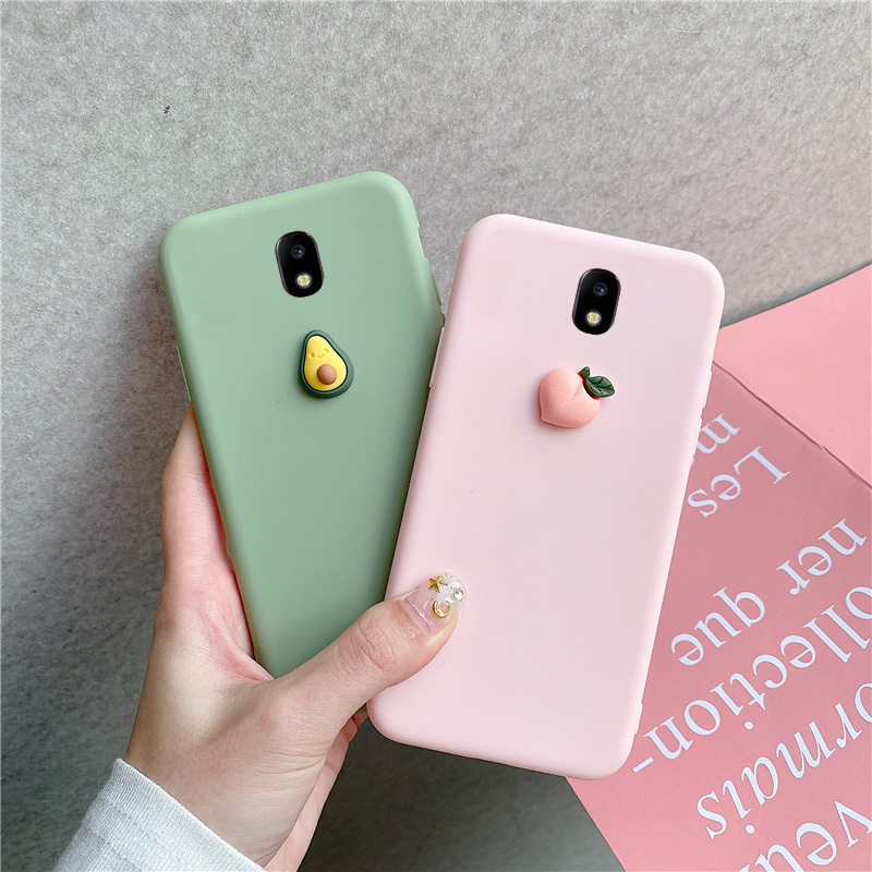 J5 2017 Lovely Cute 3D Pattern Case For <font><b>Samsung</b></font> Galaxy J5 2017 <font><b>J530F</b></font>/<font><b>DS</b></font> J5 Pro (2017) EU Fruit Silicone Cover Matte Cases image