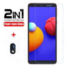 2in1 para samsung a01 núcleo de vidro temperado para galaxy a01 a 01 núcleo a01core protetor de tela proteção lente da câmera vidro 5.3