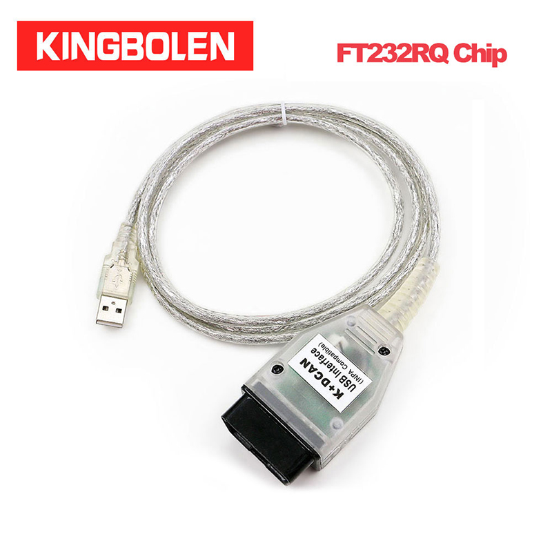 INPA K+CAN With FT232RQ Chip Diagnostic Cable  For BMW K+ DCAN Green Board USB Diagnostic Interface OBD Code Scanner