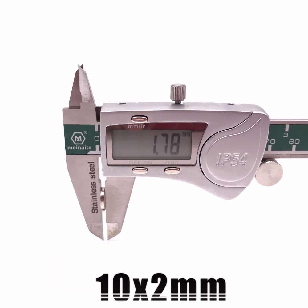 10/20/50/100 個 10 × 2 ミリメートル超強力なストロングバルクラウンドネオジムネオジムディスク磁石直径 10 ミリメートル × 2 ミリメートル N35 希土類磁石 10*2