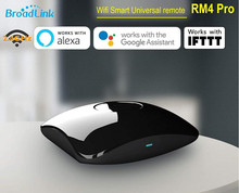 Broadlink RM4 Pro 433/315Mhz oryginalny inteligentny dom RM Mini 3 WiFi IR RF 4G pilot głosowy kompatybilny z Alexa Google Home