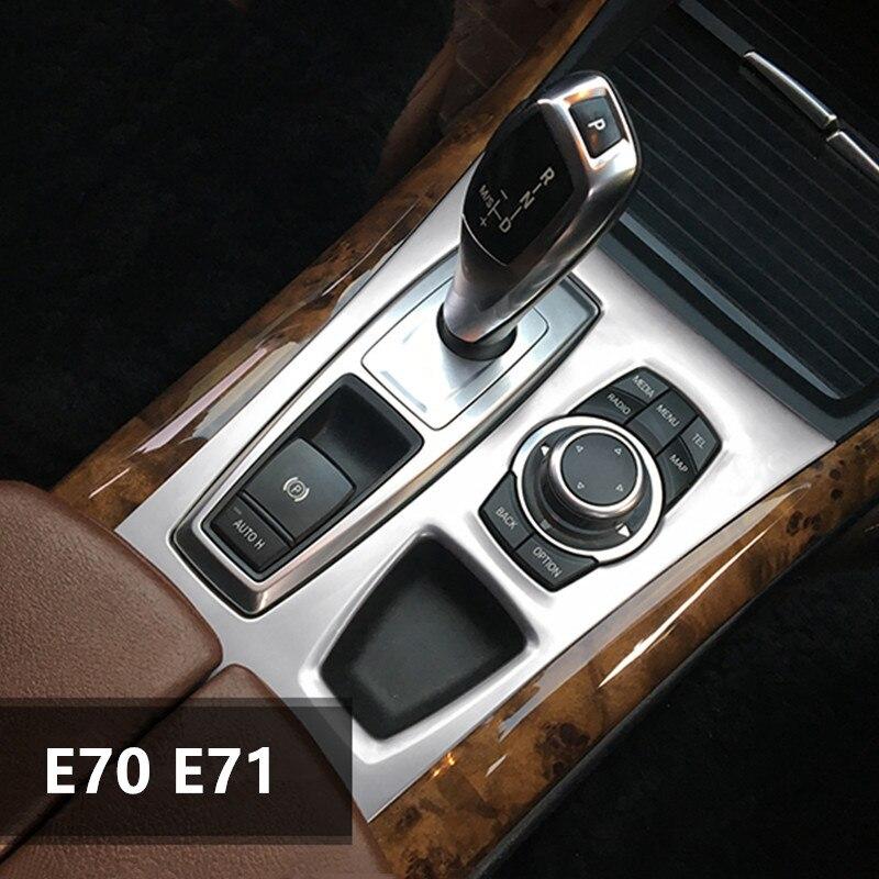 รถ Central Armrest ชุดคันเกียร์ Trim สำหรับ BMW X5 X6 E70 E71 2008-14 คอนโซลนำทาง Air Outlet กรอบแถบตกแต่ง