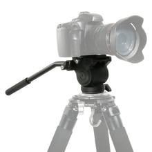 Алюминий с плавным снижением сопротивления гидровлическойй головкой трехмерной штатив-Трипод с панорамной съемки для съемки видео Запись