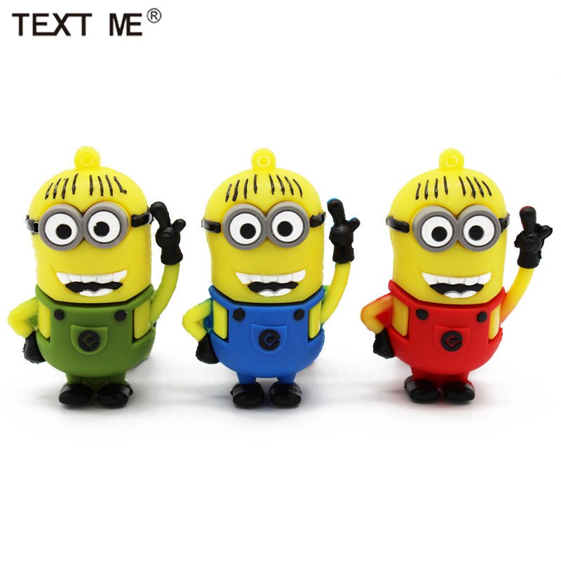 TEXT ME Usb2.0 Cute Cartoon Character Usb Flash Drive Usb 2.0 4GB 8GB 16GB 32GB Gift 64GB Pendrive