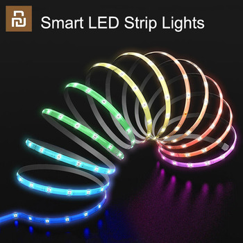 Youpin EZVALO Smart LED Strip Lights RGB LED Light With Remote Control Flexible Ribbon Tape Extendable Atmosphere Colorful Light