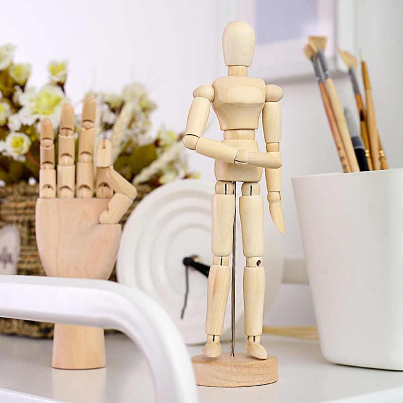 Mannequin, croquis de dessin, membres amovibles, figurines d'action, corps, main en bois, décoration de la maison, modèles d'artiste, cadeaux de poupée articulés