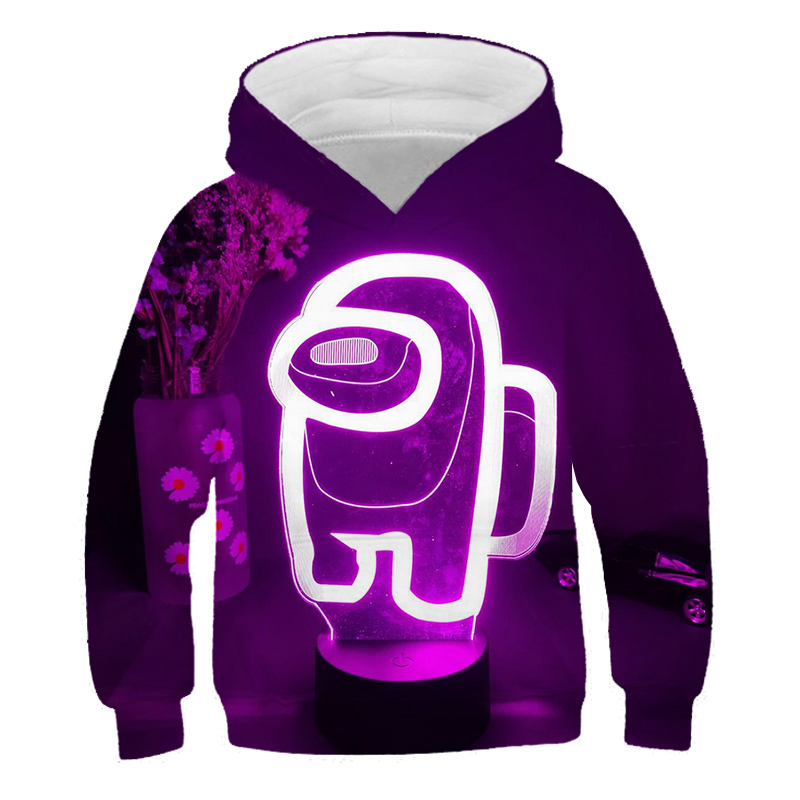 New 3D Girl Clothes Amongs Cut Hoodie Kids Hot Children s Clothing Long Sleeve Casual Sweatshirt