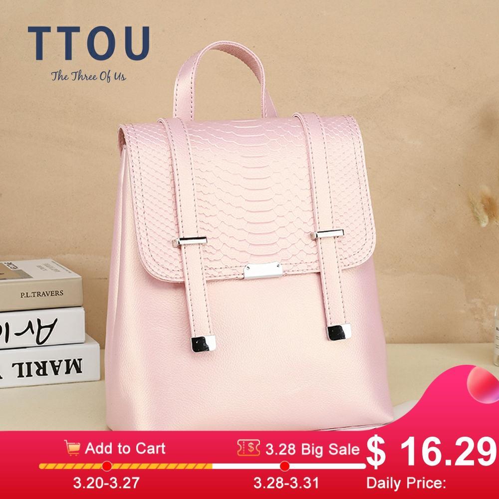 New Fashion Women Backpack Quality Leather Backpack Casual Solid School Bag For Teenage Girl Backpack Travel Shoulder Bag