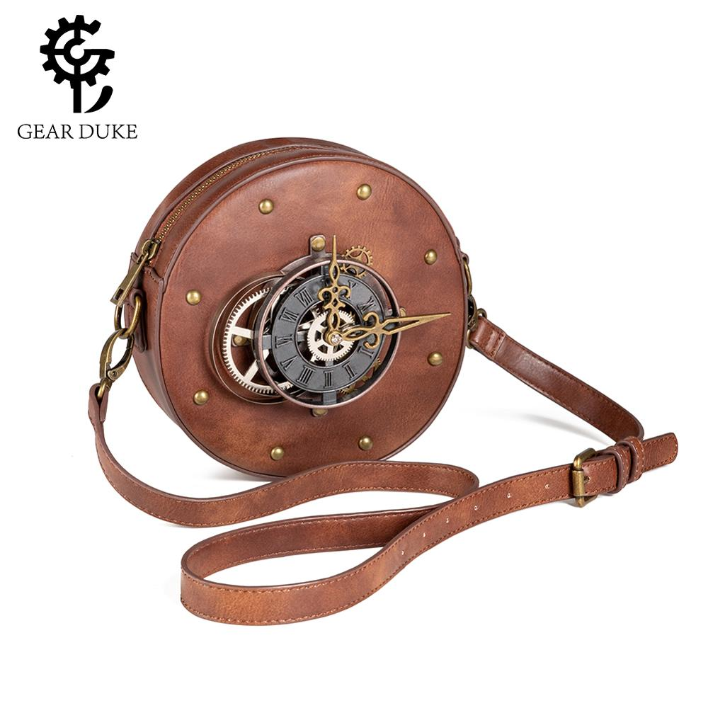 Steampunk Ladies Punk Bag Retro Black Brown Motorcycle Bag Outdoor Motion Phone Waist Pack Men Moto Biker Cool Small Pockets