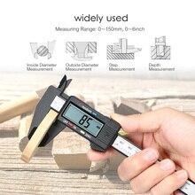 Digital Electronic Carbon Fiber Vernier Caliper Gauge Micrometer Measuring Tool 100mm 150mm 3 4 75 100mm electronic digital micrometer special low price clearance new