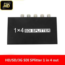 1x4 SDI Splitter SDI Extender Adapter Support 1080P TV Video 1 In 4 Out Supports HD-SDI, SD-SDI and 3G-SDI Signals