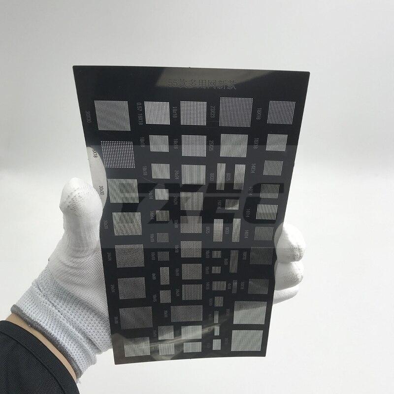 Высококачественная универсальная паяльная паста для телефона 55 видов трафареты для реболлинга BGA для ремонта материнской платы телефона ПК планшета|Сварочные флюсы|   | АлиЭкспресс