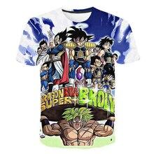 2019 Summer Kids Dragon Ball Z T Shirt 3D Print Anime Goku Vegeta T-shirts Dragonball Harajuku T-shirt 4T-14T