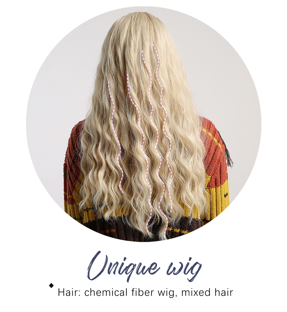 Inhaircube peruca ombré longa ondulada, cabelo sintético,