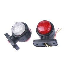 12V Car Truck LED Dual Side Marker Light Integrated Indicator Lamps For Trailer