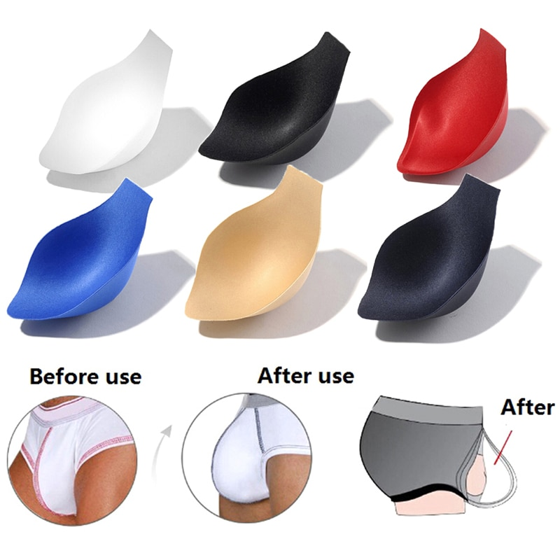 1PC Men's Accessories Swimwear Enhancer Underwear Cup Briefs Shorts Jockstrap Bulge Pad Cup Insert For Men Soft Sponge Pouch