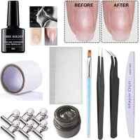 2019 nouvelle mode fibre de verre Fiber de verre acrylique Salon d'ongle en Fiber de verre clou pour Extenision ensemble Nail Art Kit soie réparation d'ongle